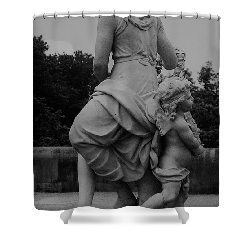 Figurative Shower Curtain featuring the painting Diana by Eric Schiabor