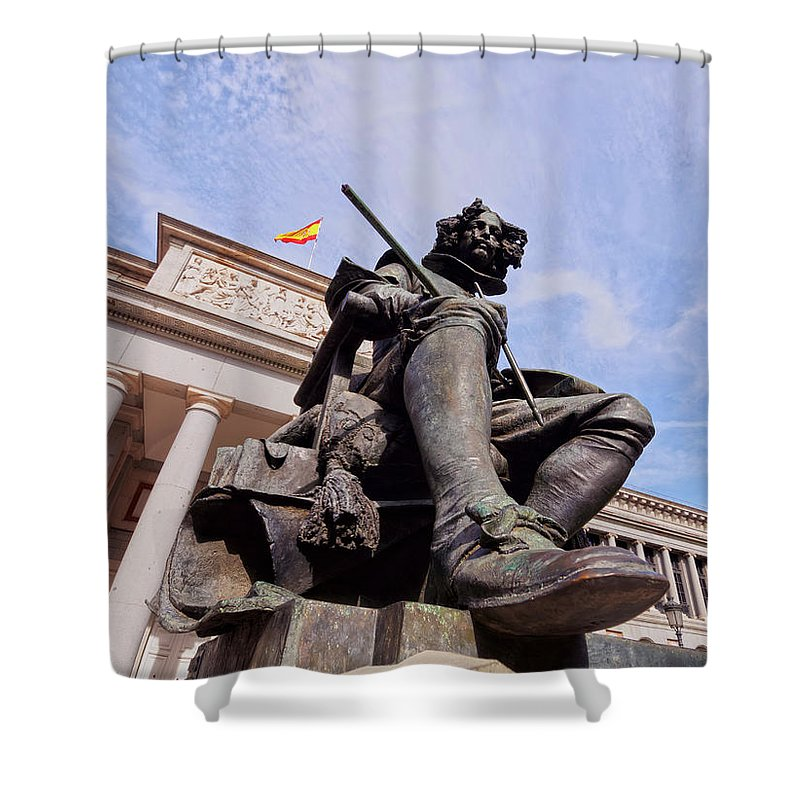 Spain Shower Curtain featuring the photograph Diego Velazquez by Karol Kozlowski