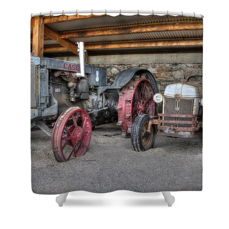 Tractor Shower Curtain featuring the photograph Different Era, Same Purpose by Michael Morse
