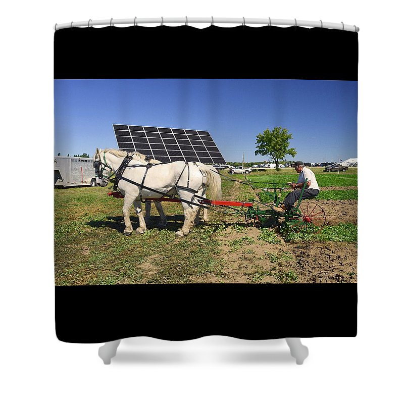 Horses Shower Curtain featuring the photograph Different Times Three by Lyle Crump
