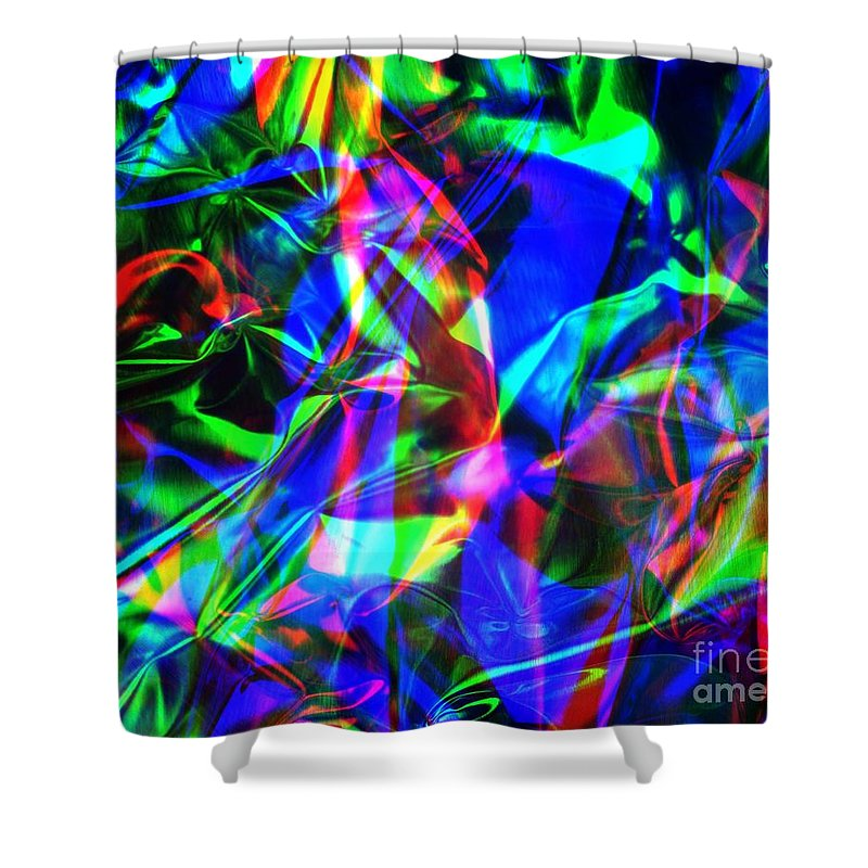 Rgb Shower Curtain featuring the photograph Digital Art-a10 by Gary Gingrich Galleries