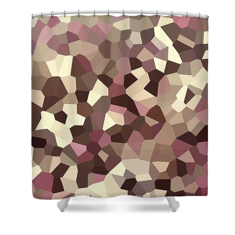 Digital Artwork Shower Curtain featuring the digital art Digital Artwork 327 by Maureen Lyttle