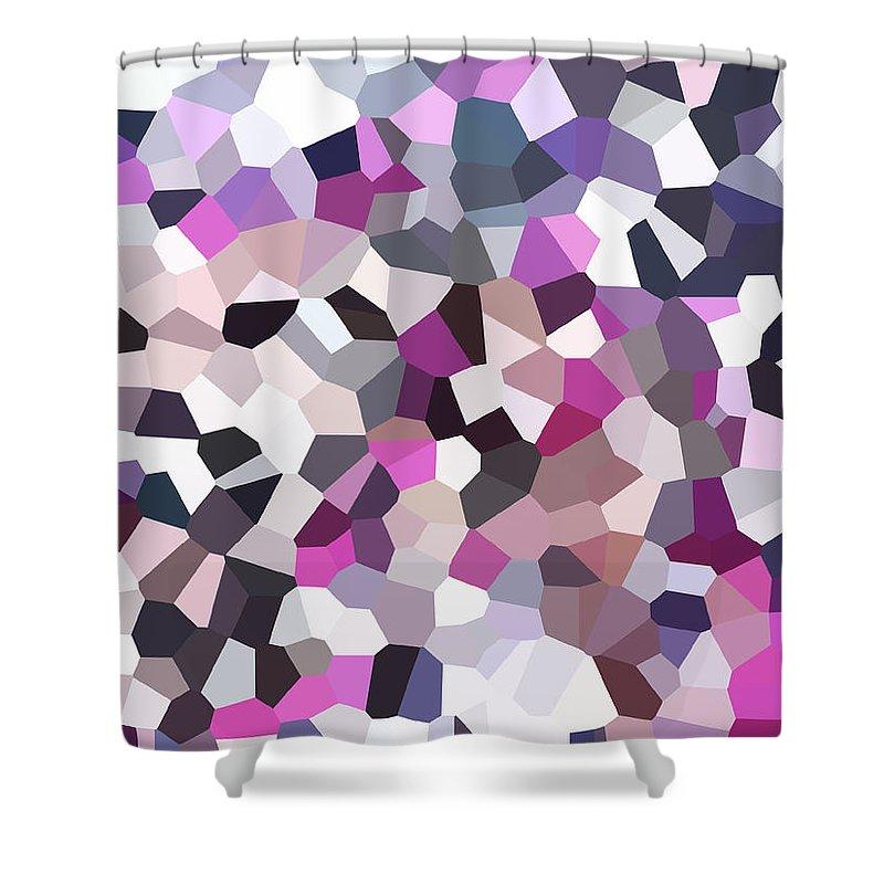 Digital Artwork Shower Curtain featuring the digital art Digital Artwork 328 by Maureen Lyttle