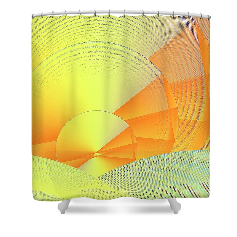 Digital Daylight Shower Curtain featuring the digital art Digital Daylight by Michael Skinner