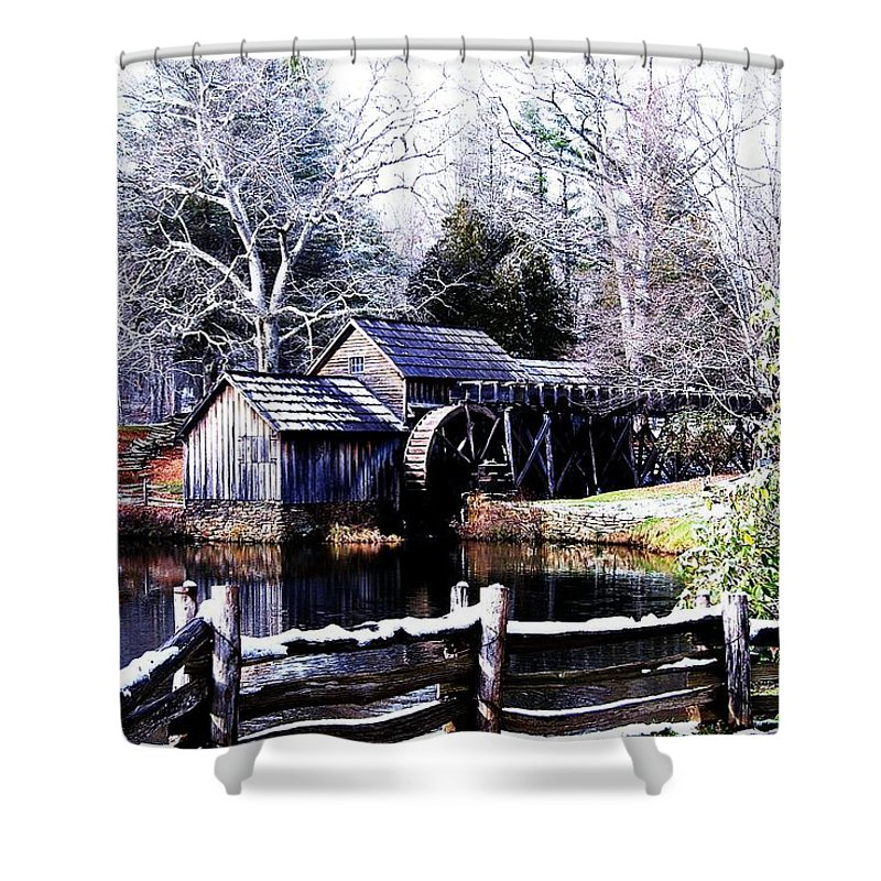Mill Shower Curtain featuring the photograph Digital Mill by Eric Liller