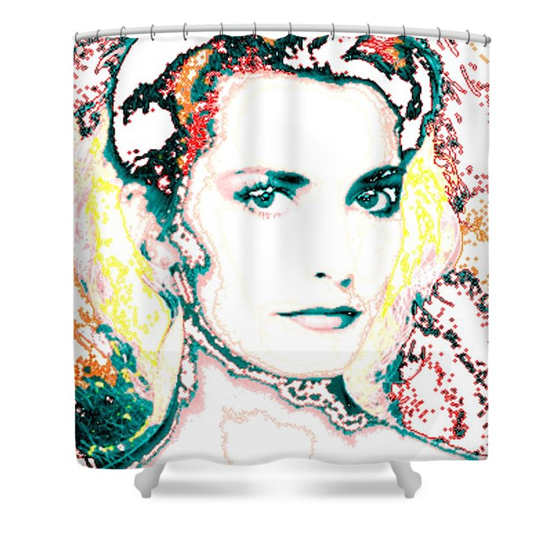 Digital Shower Curtain featuring the digital art Digital Self Portrait by Kathleen Sepulveda