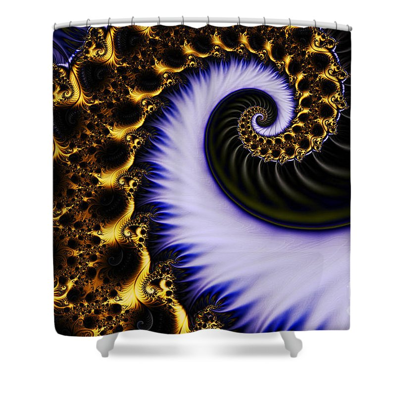Clay Shower Curtain featuring the digital art Digital Wave by Clayton Bruster