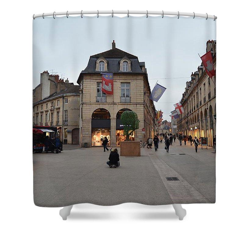 Street Corner Shower Curtain featuring the photograph Dijon Street Corner by Dawn Crichton
