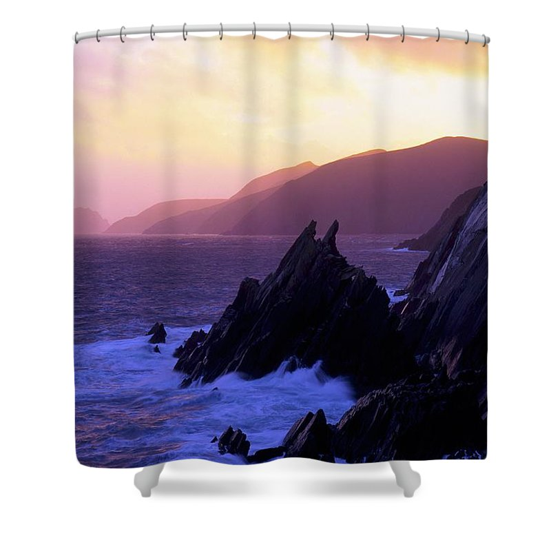 Beauty In Nature Shower Curtain featuring the photograph Dingle Peninsula, Co Kerry, Ireland by The Irish Image Collection
