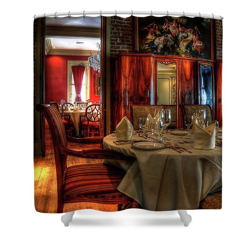 New Orleans Shower Curtain featuring the photograph Dining At Muriel's by Kathleen K Parker
