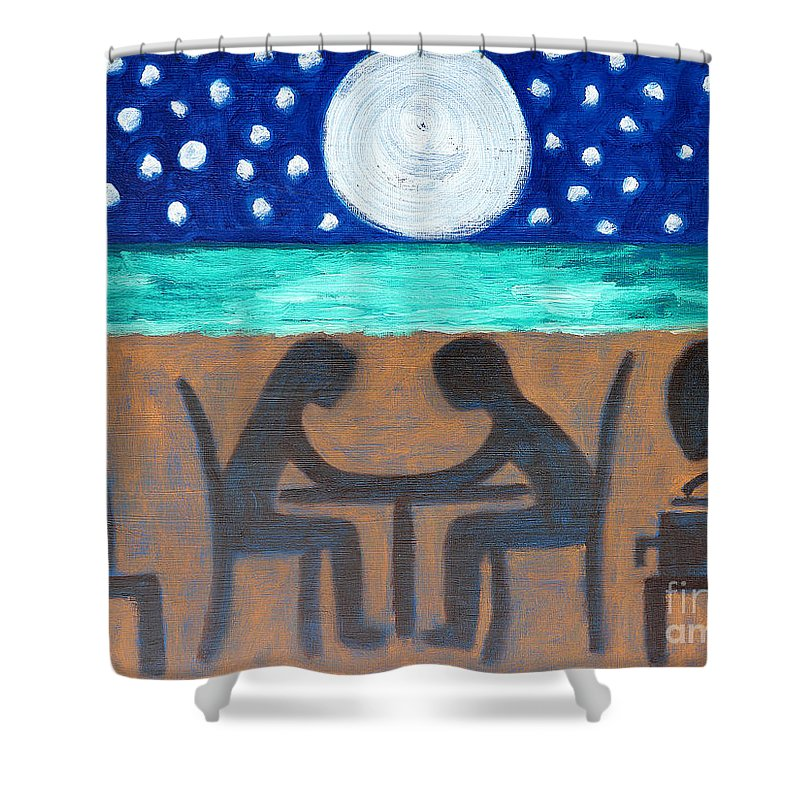 Dinner Shower Curtain featuring the painting Dinner For Two by Patrick J Murphy