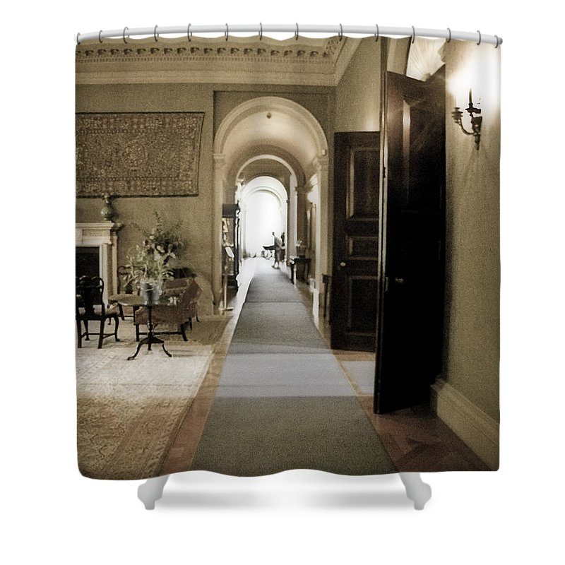 Mansions Shower Curtain featuring the photograph Dinner Is Serve4d by Karen W Meyer