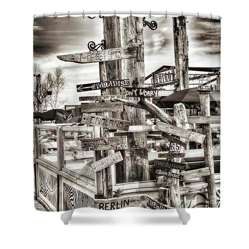 Direction Shower Curtain featuring the photograph Direction by Andrea Otte