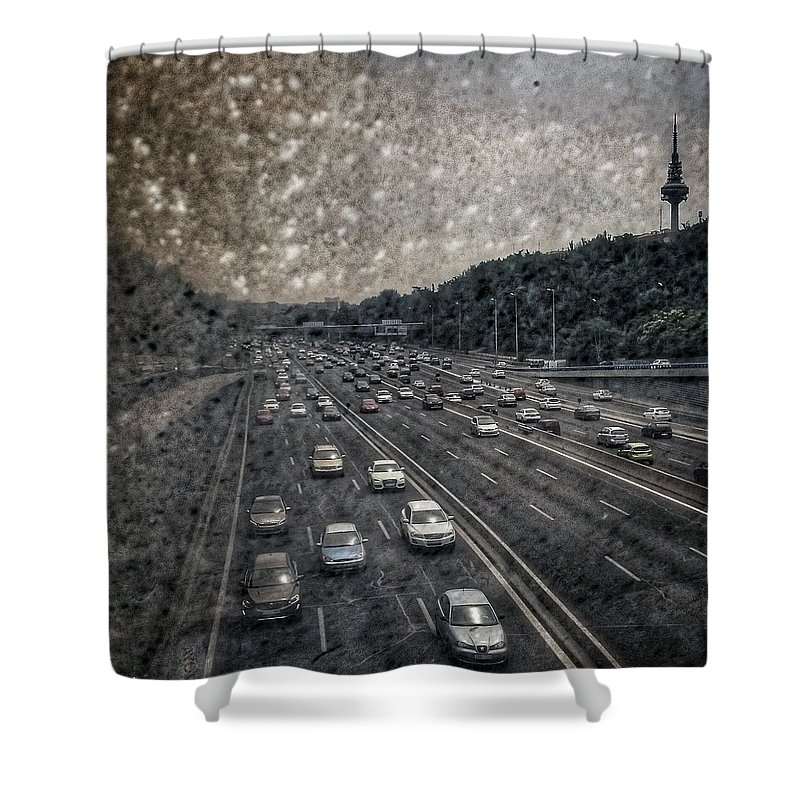 City Shower Curtain featuring the photograph Dirty Piruli by Rafa Rivas