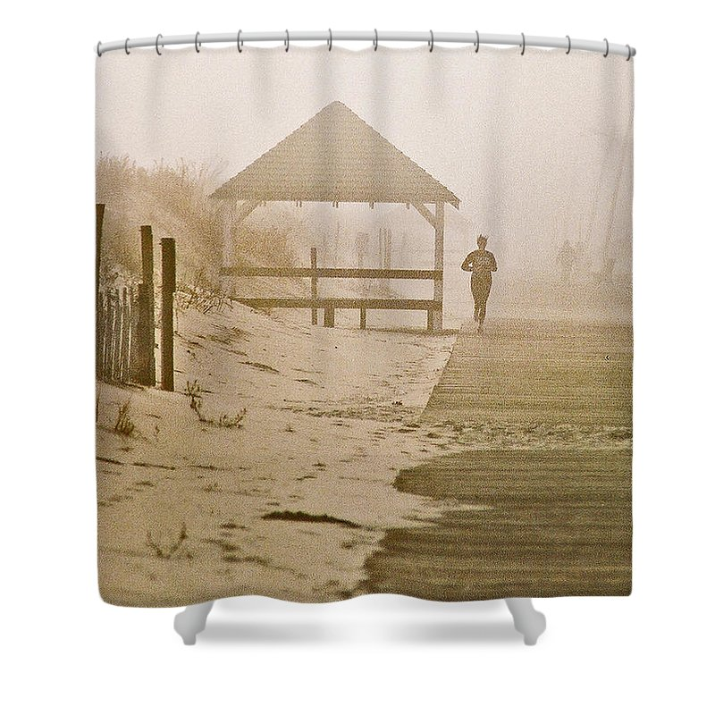 Landscape Shower Curtain featuring the photograph Disappearance by Steve Karol