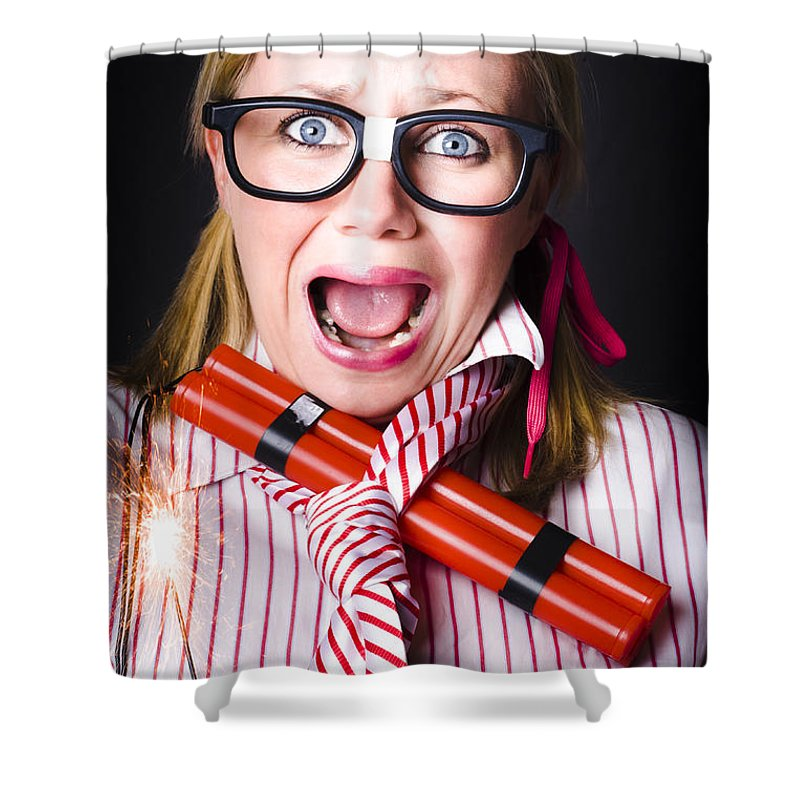 Bomb Shower Curtain featuring the photograph Disaster Is A Time Bomb Of Explosive Stress by Jorgo Photography - Wall Art Gallery