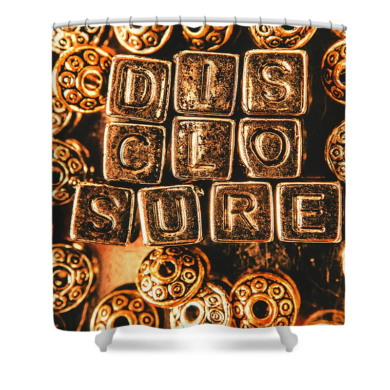 Disclosure Shower Curtain featuring the photograph Disclosure by Jorgo Photography - Wall Art Gallery