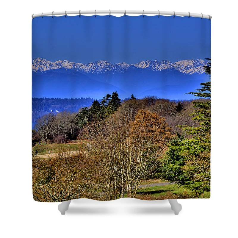 Photo Shower Curtain featuring the photograph Discovery Park No.2 by David Patterson