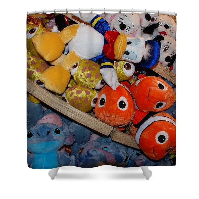 Colors Shower Curtain featuring the photograph Disney Animals by Rob Hans