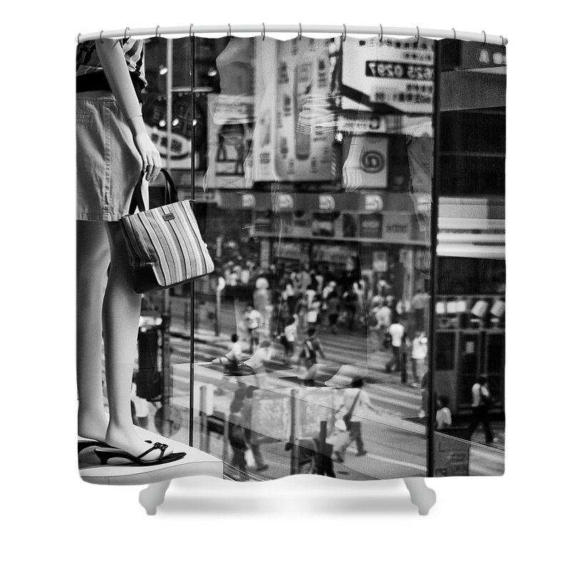 Mannequin Shower Curtain featuring the photograph Display by Dave Bowman