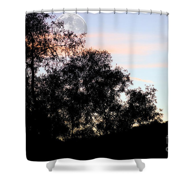 Clay Shower Curtain featuring the photograph Distant Moon by Clayton Bruster