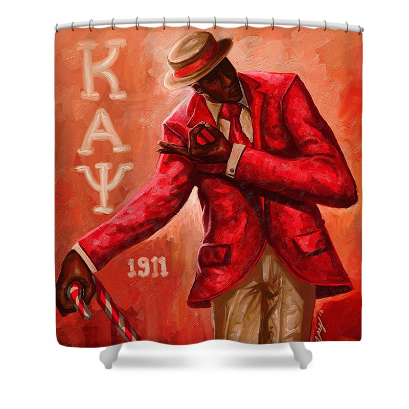 52d9338f Sorority Shower Curtain featuring the digital art Distinguished Kappa Alpha  Psi by The Art of DionJa