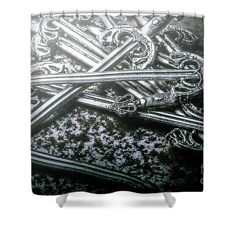 Middle Ages Shower Curtain featuring the photograph Distortions From Fables Conquered by Jorgo Photography - Wall Art Gallery
