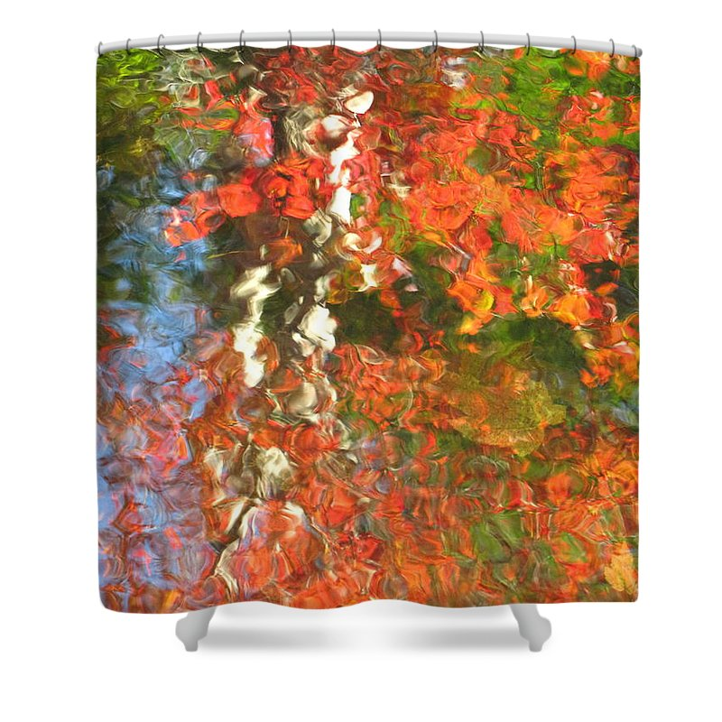 Colorful Liquid Shower Curtain featuring the photograph Delight by Sybil Staples