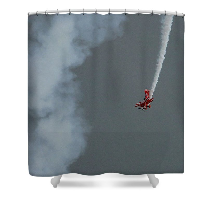 Plane Shower Curtain featuring the photograph Dive by Andrew Ford