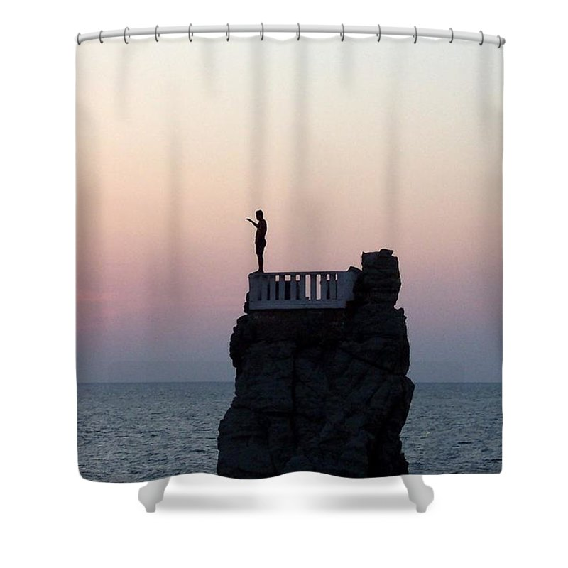 Mexico Shower Curtain featuring the photograph Diver by Linda Chambers
