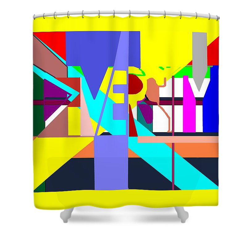 Diversity Shower Curtain featuring the digital art Diversity Enmeshed by Pharris Art