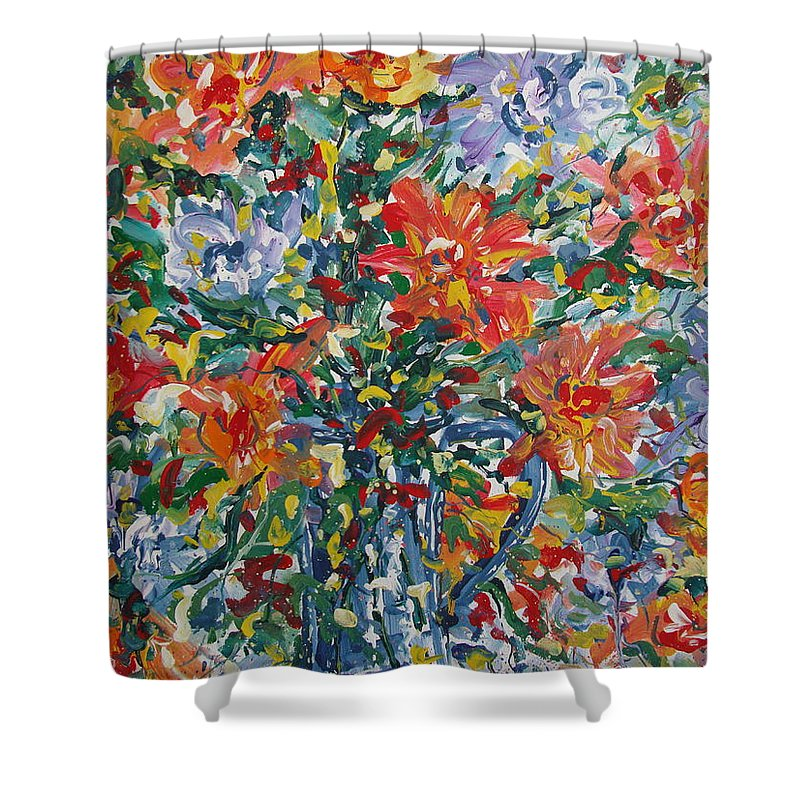 Painting Shower Curtain featuring the painting Divine Happiness. by Leonard Holland
