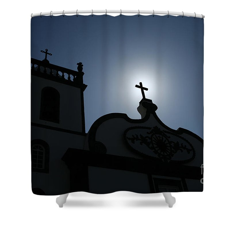 Belief Shower Curtain featuring the photograph Divine Light by Gaspar Avila