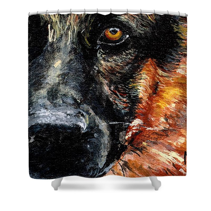 Charity Shower Curtain featuring the painting Dixie by Mary-Lee Sanders
