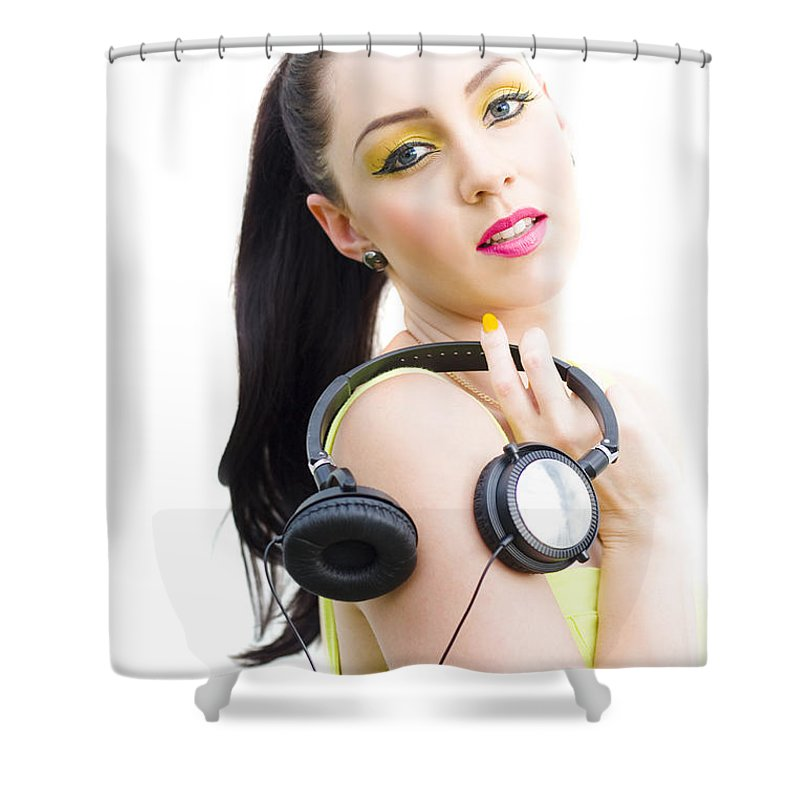 Attractive Shower Curtain featuring the photograph Dj Girl by Jorgo Photography - Wall Art Gallery