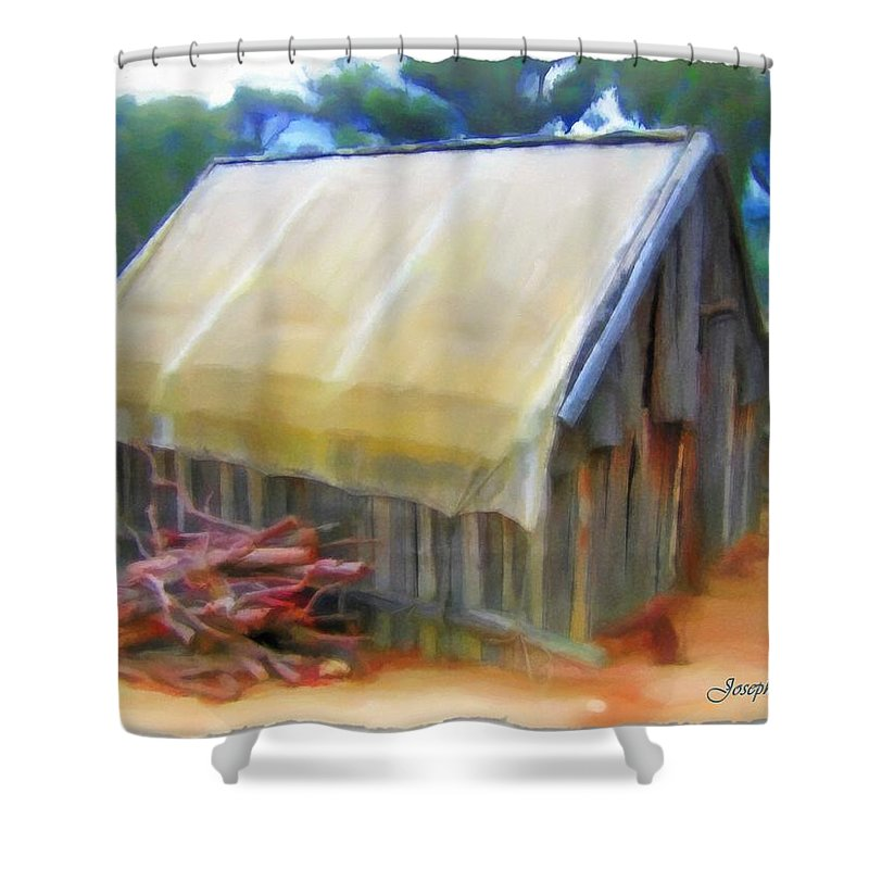 Hutt Shower Curtain featuring the photograph Do-00069 Small Hut by Digital Oil