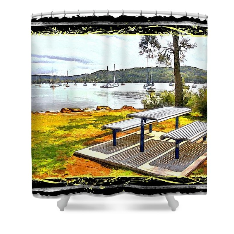 Picnic Shower Curtain featuring the photograph Do-00126 Picnic Spot by Digital Oil