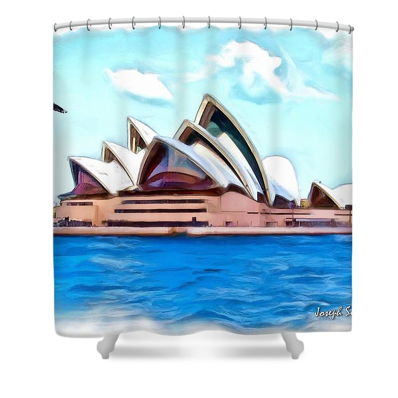 Sydney Opera House Shower Curtain featuring the photograph Do-00293 Sydney Opera House by Digital Oil