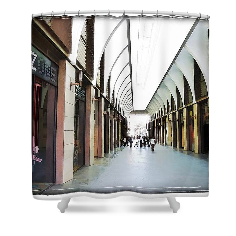 New Market Shower Curtain featuring the photograph Do-00355 New Market In Downtown by Digital Oil