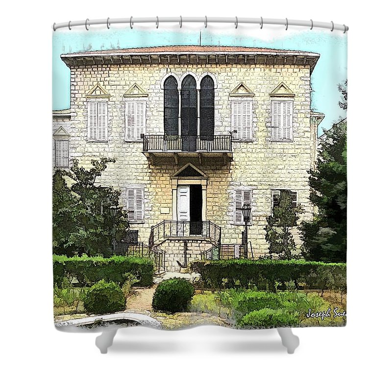 Yazbeck Palace Shower Curtain featuring the photograph Do-00461 Yazbeck Palace by Digital Oil