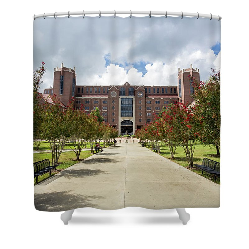 Architecture Shower Curtain Featuring The Photograph Doak S Campbell Stadium At Florida State University By