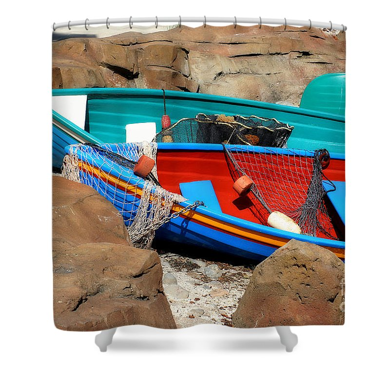 Anchored Shower Curtain featuring the photograph Docked by Joel Witmeyer