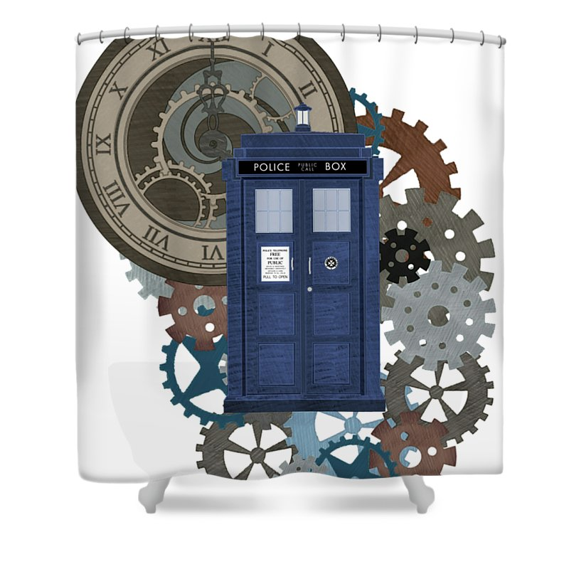 Doctor Who Inspred Time Travel 2 Shower Curtain For Sale By Alondra