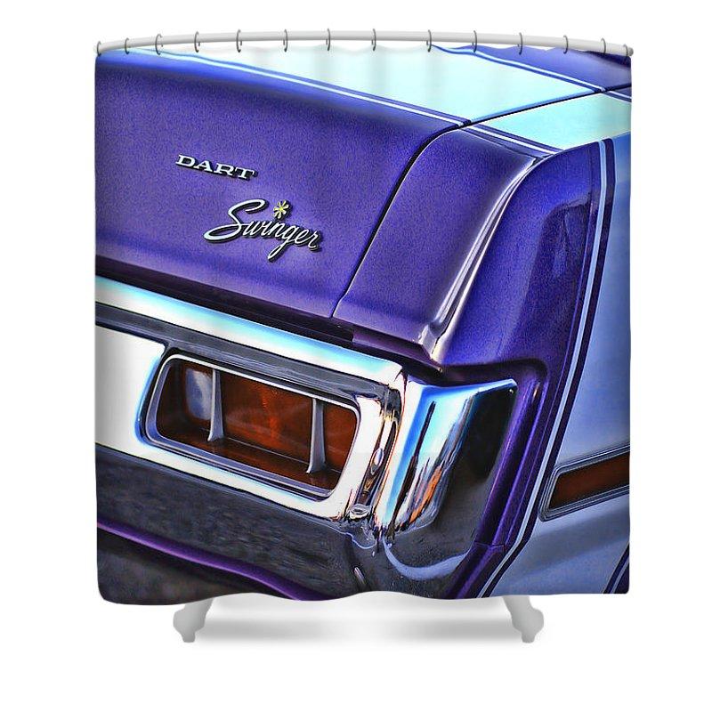 Dodge Shower Curtain featuring the photograph Dodge Dart Swinger by Gordon Dean II