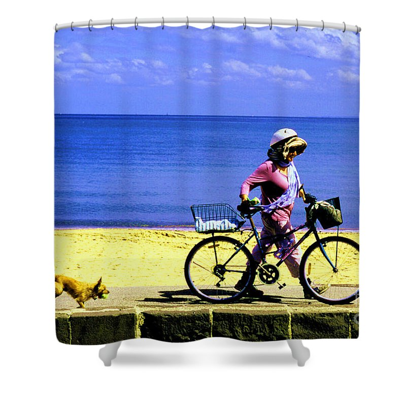 Seaside Shower Curtain featuring the photograph Dog Day Afternoon by Ronald Rockman