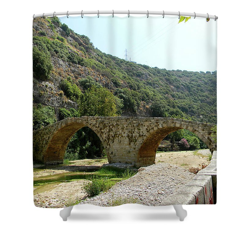 Lebanon. Dog River Shower Curtain featuring the photograph Dog River by Marwan George Khoury