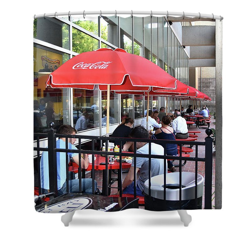 Scenic Tours Shower Curtain featuring the photograph Doing Lunch by Skip Willits