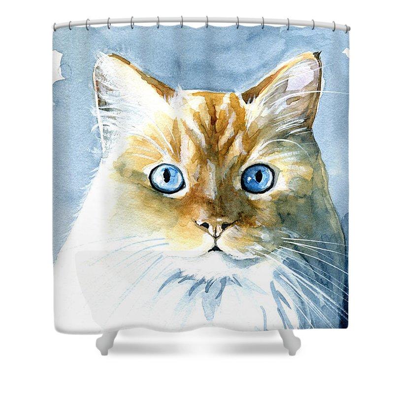 Himalayan Cat Shower Curtains