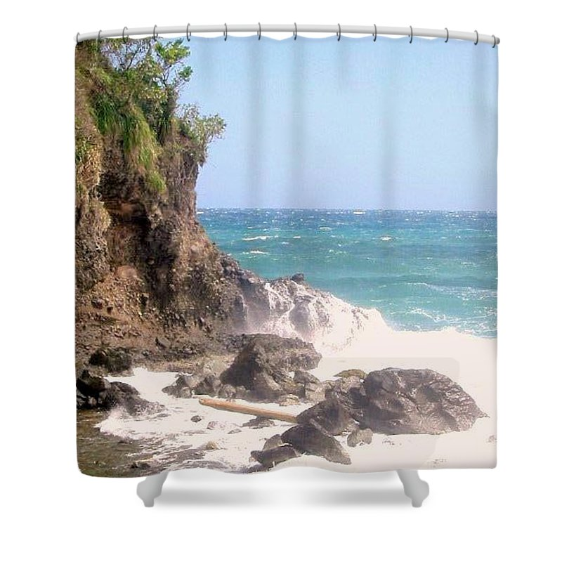 Dominica Shower Curtain featuring the photograph Dominica North Atlantic Coast by Ian MacDonald