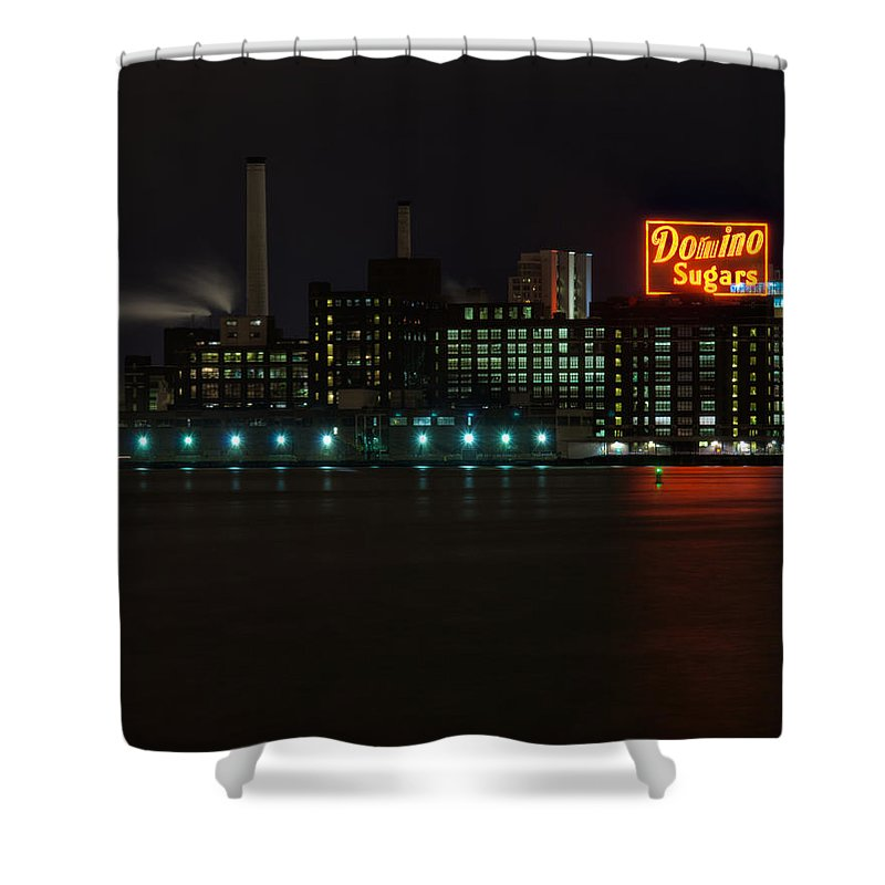Tonemapped Shower Curtain featuring the photograph Domino Sugars Wide by Mark Dodd
